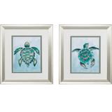 Aquatic Turtle Prints - Set of Two