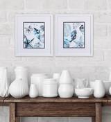 Cerulean Sealife B White Framed Art - Set of Two room example
