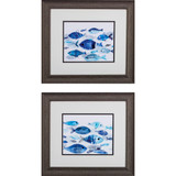 Fish on Parade Beach House Art - Set of Two