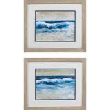 Breaking Shore Waves Coastal Art - Set of 2