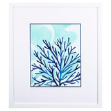 Chromatic Sea Tangle II Framed in White