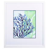 Chromatic Sea Tangle III Framed in White