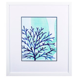 Chromatic Sea Tangle IV Framed in White