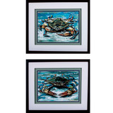 Blue Palette Crabs - Set of Two