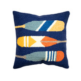 Painted Paddles Indoor-Outdoor Hooked Pillow