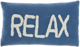 Cottage RELAX Blue Throw Pillow