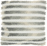 Ombre Woven Stripes Charcoal Throw Pillow