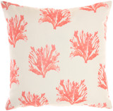 Coral and Dot Indoor-Outdoor Throw Pillow