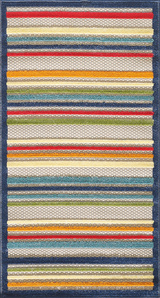 Bright Seaside Stripes Hi-Lo Rug smaller sizes