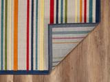 Bright Seaside Stripes Hi-Lo Rug backing