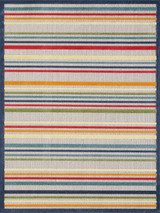 Bright Seaside Stripes Hi-Lo Rug larger sizes