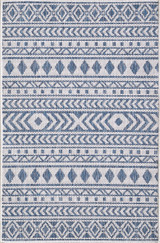 Blue Surfer's Beach Indoor-Outdoor Area Rug