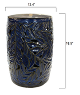 Cobalt Blue Acanthus Garden Stool size