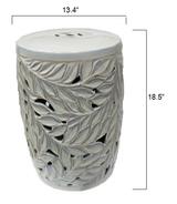 White Acanthus Garden Stool measurements