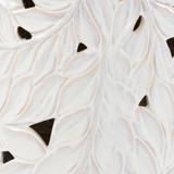 White Acanthus Garden Stool close up