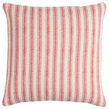 Beach Cottage Red Ticking Stripe Pillow