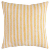 Beach Cottage Yellow Ticking Striped Pillow