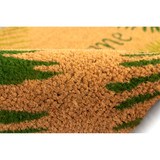 Welcome Door Mat with Green Palms -18 x 30 close up 2