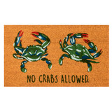 No Crabs Allowed Door Mat -18 x 30