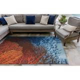 Coral Ocean Indoor-Outdoor Area Rug patio view