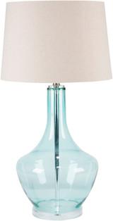 Easton Pale Blue Glass Table Lamp light off