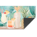 Patio Party Tropical Floor Mat backing