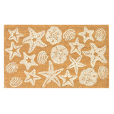 White Shell Scatter Natura Coir 24 x 36 Door Mat
