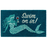 Swim On In Natura Coir 24 x 36 Door Mat