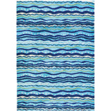 Wavey Seaside Stripes Indoor Area Rug