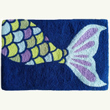 Jewel Tone Mermaid Accent Rug