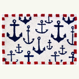 Anchors Aweigh Nautical Accent Rug