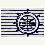Ship's Wheel Nautical Accent Rug