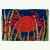 Red Crab in Seaweed Accent Rug