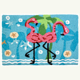 Dancing Flamingos Accent Rug