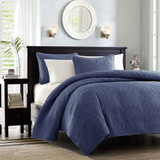 Hudson Bay Navy Queen Size Coverlet Set view 1