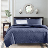Hudson Bay Navy Queen Size Coverlet Set view 2