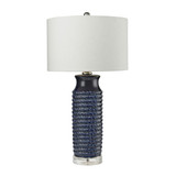Wrapped Rope Ceramic Table Lamp in Blue