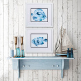 Underwater Blue Fish A Framed Art- Set of Two room view