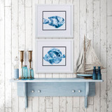 Underwater Blue Fish B Framed Art- Set of Two lifestyle