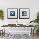 Midnight Sea Shell Prints- Set of Two lifestyle