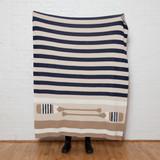 Oar Stripes Cozy Knit Throw