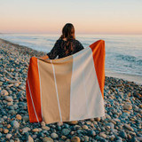 Catamaran Sunset and Sand Knit Throw lifestyle