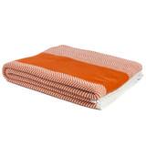 Herringbone Orange and White Striped Throw