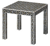 Evelyn Glam Side Table in Mother of Pearl