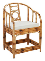 Malacca  Arm Chair in Burnt Tortoiseshell Rattan front