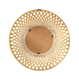 Reed Woven Round Bamboo Wall Mirror close up back