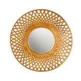 Reed Woven Round Bamboo Wall Mirror