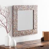 Overton Bronze Mother Of Pearl Framed Mirror room view