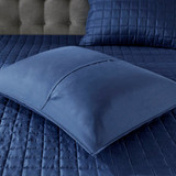 Admiralty Navy and White 8-Piece Comforter Set quilted shams