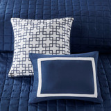 Admiralty Navy and White 8-Piece Comforter Set close up 2